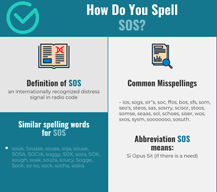 Correct spelling for sos