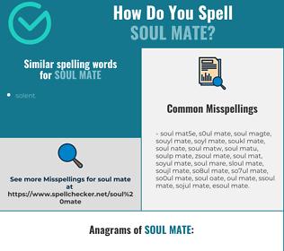 Correct spelling for soul mate
