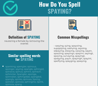 Correct spelling for spaying