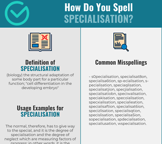 Correct spelling for specialisation