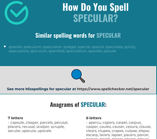Correct spelling for specular