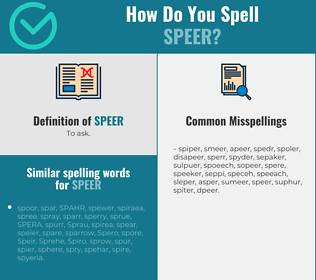 Correct spelling for speer