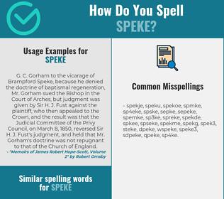 Correct spelling for speke
