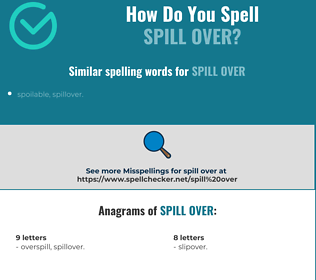 Correct spelling for spill over