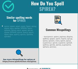 Correct spelling for spirea