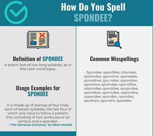 Correct spelling for spondee
