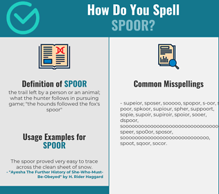 Correct spelling for spoor
