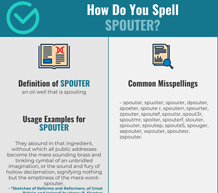 Correct spelling for spouter