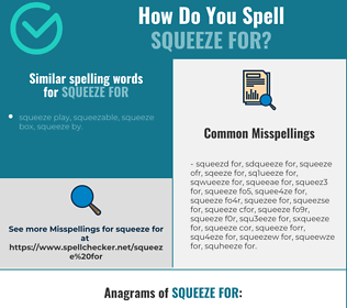Correct spelling for squeeze for