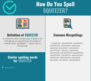 Correct spelling for squeezer