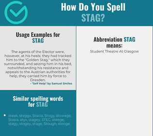 Correct spelling for stag
