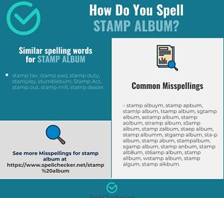Correct spelling for stamp album