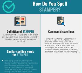Correct spelling for stamper