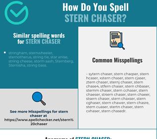Correct spelling for stern chaser