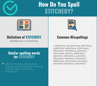 Correct spelling for stitchery