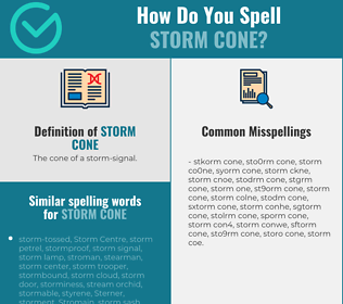 Correct spelling for storm cone