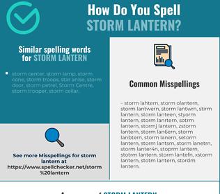 Correct spelling for storm lantern