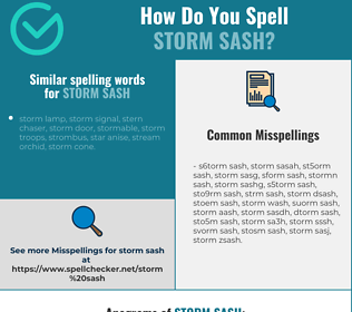 Correct spelling for storm sash