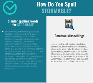 Correct spelling for stormable