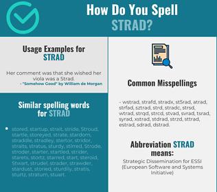 Correct spelling for strad