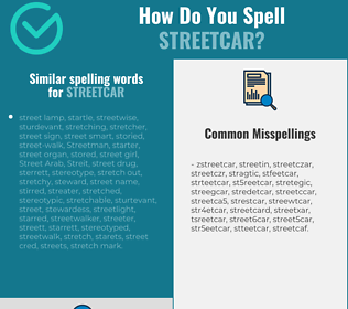 Correct spelling for streetcar