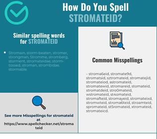 Correct spelling for stromateid