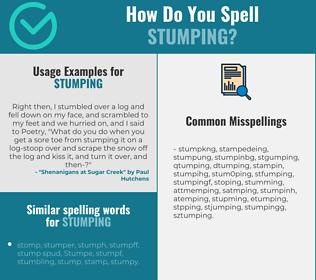 Correct spelling for stumping