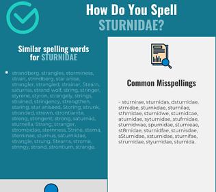 Correct spelling for sturnidae