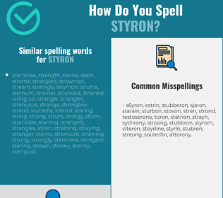 Correct spelling for styron