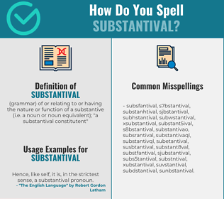 Correct spelling for substantival