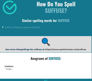 Correct spelling for suffuse