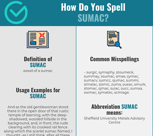 Correct spelling for sumac