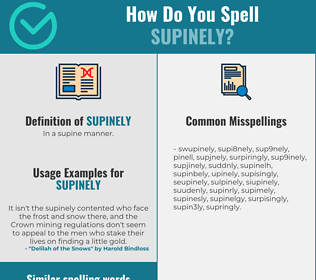 Correct spelling for supinely