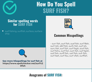 Correct spelling for surf fish