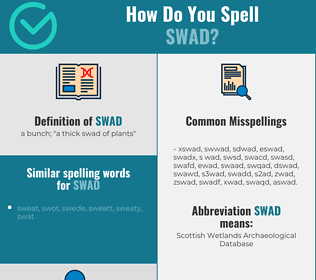 Correct spelling for swad