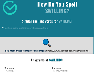 Correct spelling for swilling