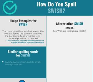 Correct spelling for swish