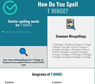 Correct spelling for t hinge