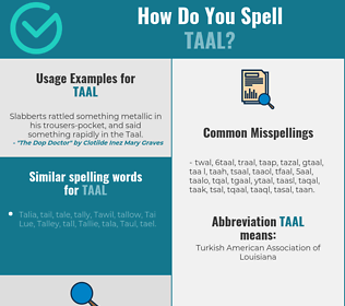 Correct spelling for taal
