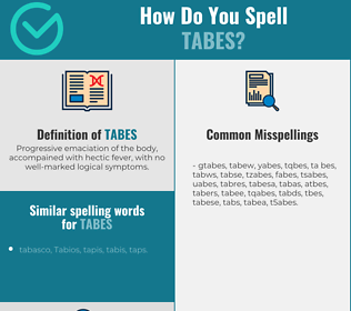 Correct spelling for tabes