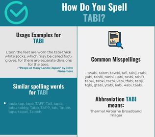Correct spelling for tabi
