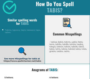 Correct spelling for tabis