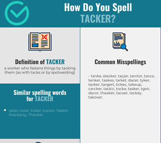 Correct spelling for tacker
