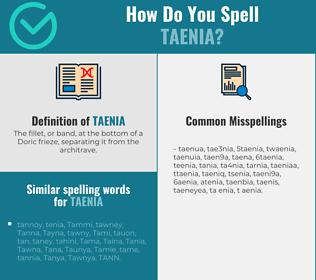 Correct spelling for taenia