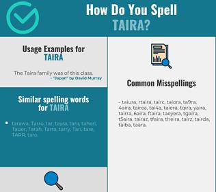 Correct spelling for taira