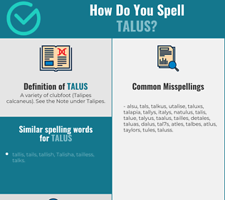 Correct spelling for talus