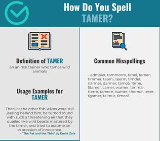Correct spelling for tamer