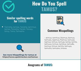 Correct spelling for tamus