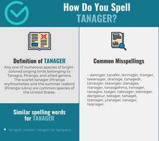 Correct spelling for tanager