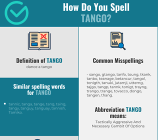Correct spelling for tango